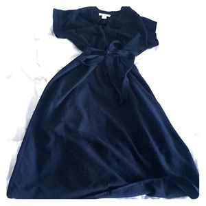 Navy Blue Past Knees Dress